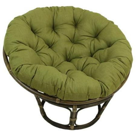 Blazing Needles Solid 44-inch Indoor/ Outdoor Papasan Cushion Lime (REO-SOL-1) ()