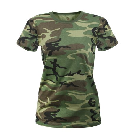 Womens Woodland Camo Longer T-Shirt