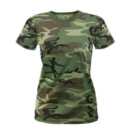 Womens Woodland Camo Longer T-Shirt