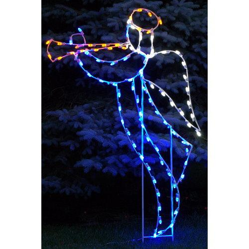 Christmas at Winterland WL-GM104-LED LED Light Trumpeting Angel