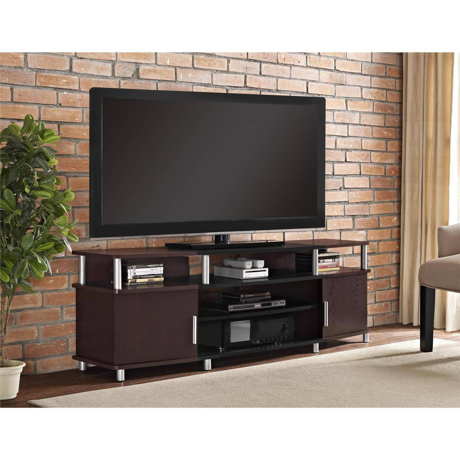 Carson XL Black and Cherry TV Stand for TVs up to 70""