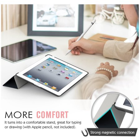 MoKo Case Fit iPad 2/3 / 4, Ultra Slim Lightweight Smart-Shell Stand Cover with Translucent Frosted Back Protector - image 2 de 4