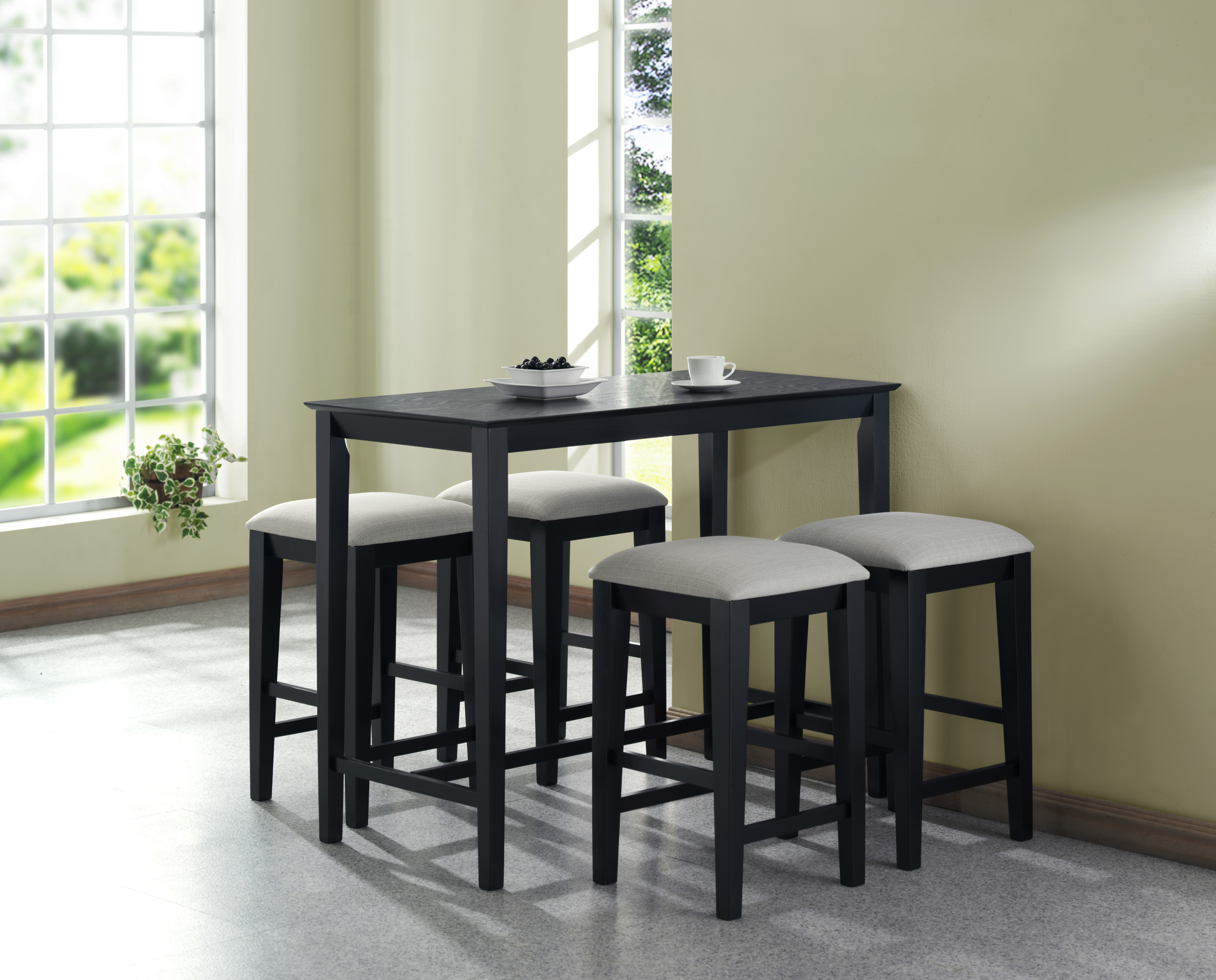 modern style black grain 24  x 48   counter height kitchen table furniture     modern style black grain 24  x 48   counter height kitchen table      rh   walmart com