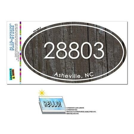 28803 Asheville, NC - Unisex Wood - Oval Zip Code Sticker](Party City Asheville Nc)