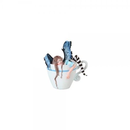 4.75 Inch I Need Coffee Fairy Sleeping in Cup Statue Figurine ()