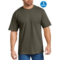 Genuine Dickies Big Men's Short Sleeve Heavy Weight Pocket T-Shirt, 2 Pack
