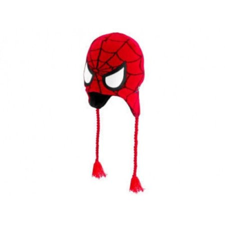 Spider Face (Laplander Beanie Cap - Spiderman - Face Mask New 026113)