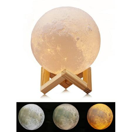 3D Printing Moon Led Night Light 5.9