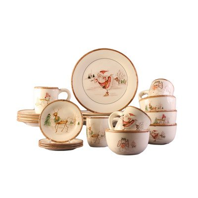 CHRISTMAS TWIG  20  PC DINNER SET