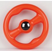 Large Floating Ring Flying Disc Floats on Water Tough Dog Chew Toy (Orange)