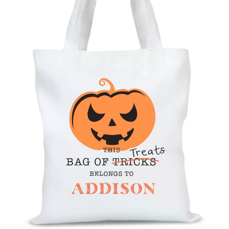 Personalized Spooky Pumpkin Halloween Tote Bag, Sizes 11