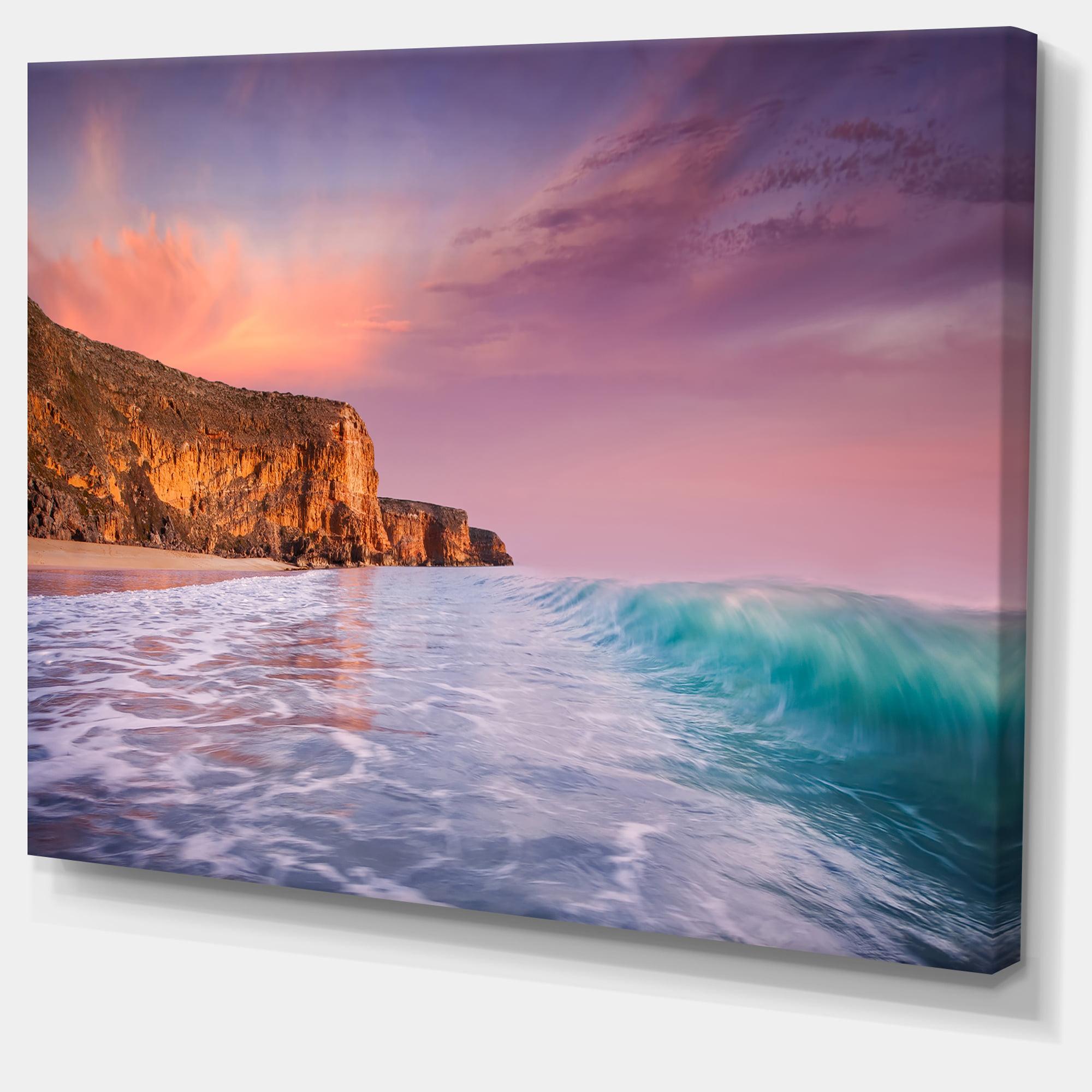 Beautiful Paradise Sunset - Extra Large Seascape Art Canvas - image 1 de 3