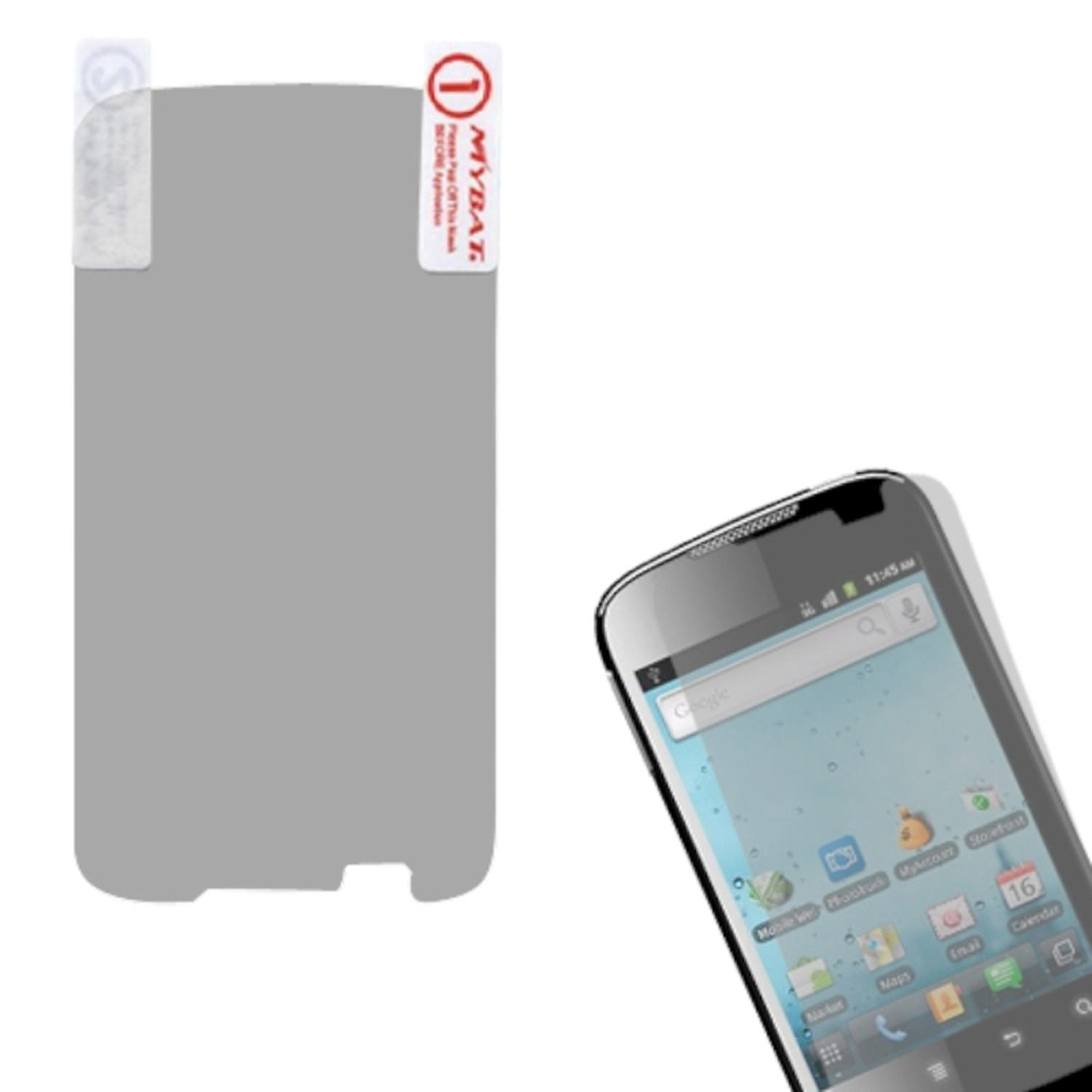 Insten Anti-grease LCD Screen Protector/Clear for HUAWEI: M865 (Ascend II), U8651T (Prism), U8651S (Summit)