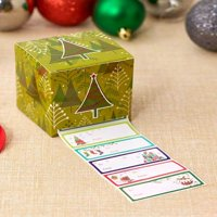 Tokogingseng 1.000 Pc Boxed Gift Tag with Boxed Dispenser Green Tree