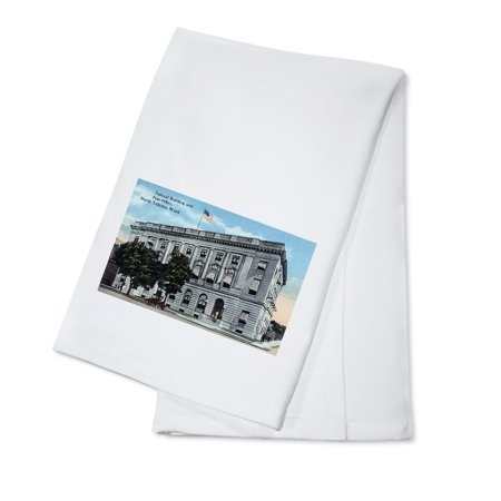 Yakima, Washington - Exterior View of Federal Bldg and Post Office (100% Cotton Kitchen Towel) (Federal Post)