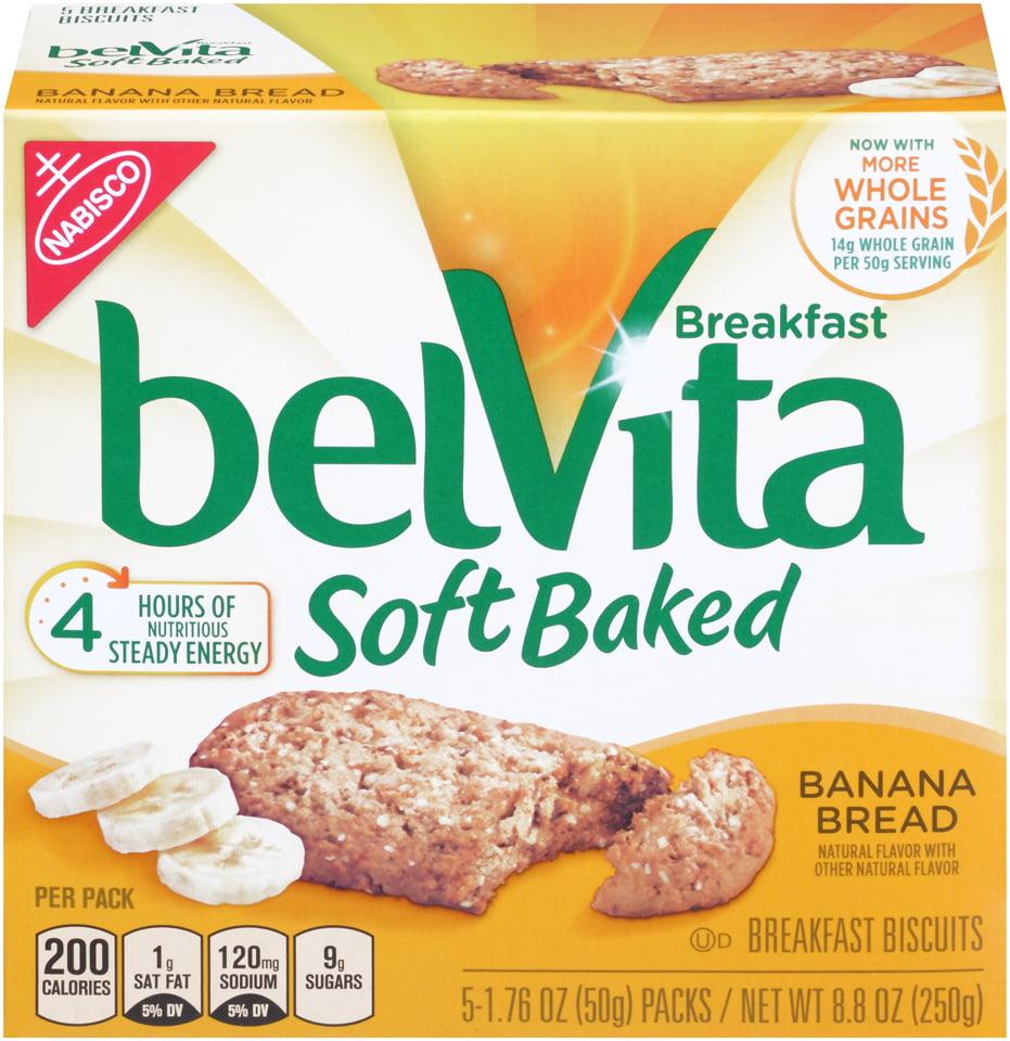 Belvita Soft Baked Banana Bread Breakfast Biscuits, 8.8 Oz