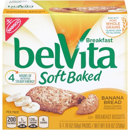 belVita Soft Baked Banana Bread Breakfast Biscuits, 8 8 Oz
