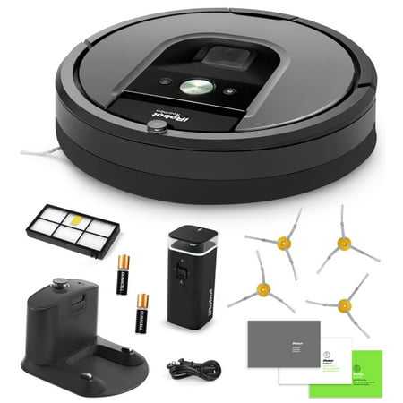 Irobot Roomba 960 Vacuum Cleaning Robot   Dual Mode Virtual Walls   High Efficiency Filter   4 Extra Sidebrushes   More
