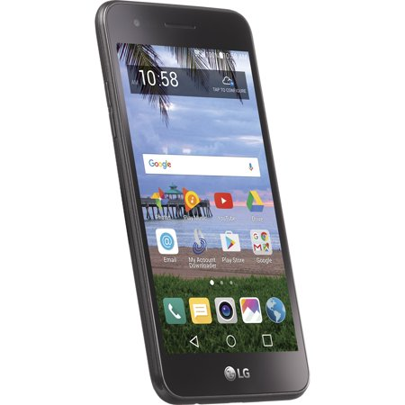 Walmart Family Mobile LG Rebel 2 8GB Prepaid Smartphone, Black