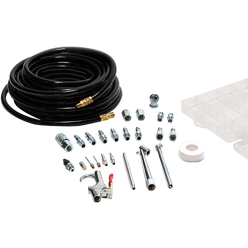 PrimeFit 50' PVC Air Hose with 25-Piece Air Accessory Kit