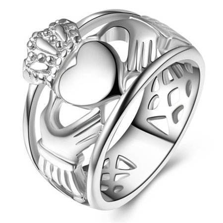 Unisex Claddagh Ring, Stainless Steel Irish Friendship Love Ring, For Men and (Best 1000 Jewels Friends Unisex Rings)