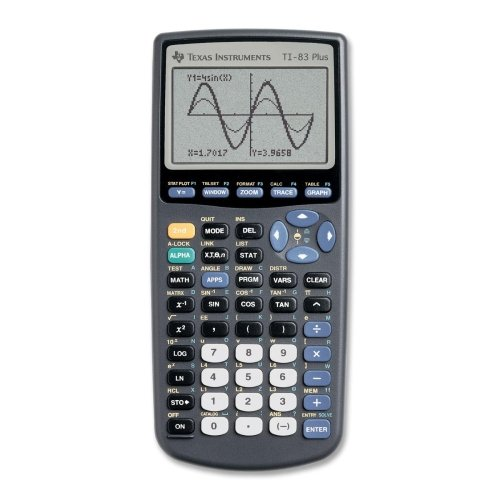 Texas Instruments TI-83Plus Programmable Graphing Calculator, 10-Digit LCD by Texas Instruments