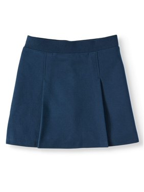 Wonder Nation Girls School Uniform Stretch Ponte Knit Scooter, Sizes 4-16 & Plus