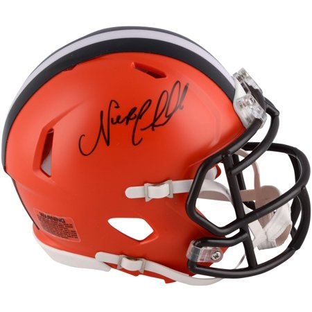 Nick Chubb Cleveland Browns Autographed Riddell Speed Mini Helmet - Fanatics Authentic Certified (Brown Autographed Mini Helmet)