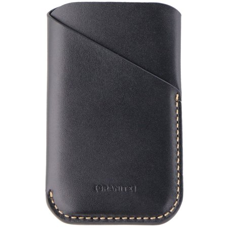Granite Genuine Leather Sleeve Case for Palm Smartphones - Black