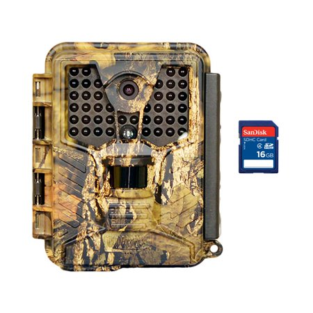 - Covert Ice 8 MP Infrared Video & Audio Game Hunting Camera + 16GB SD Memory Card