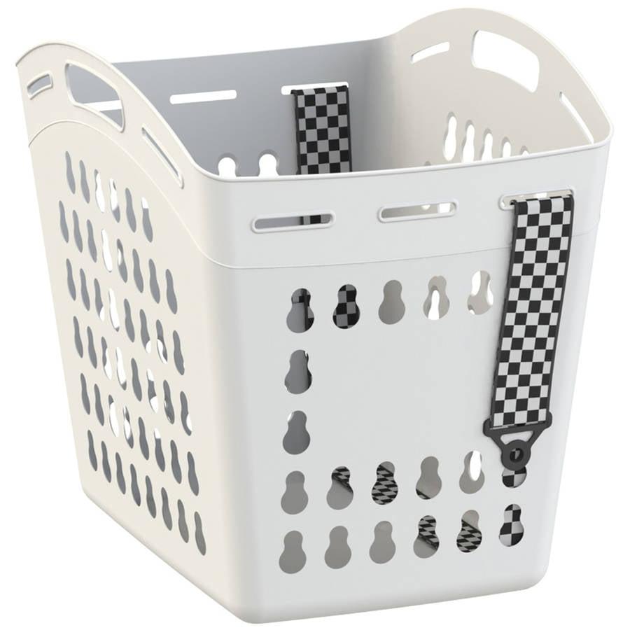United Solutions Hamper 1.5 Bushel Laundry Tote, White