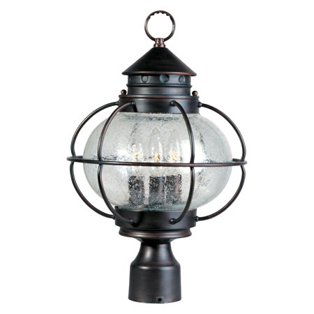 Maxim Portsmouth Outdoor Post Lantern - 16H in. Oil Rubbed Bronze (Outdoor Lamp Post Oil Rubbed)
