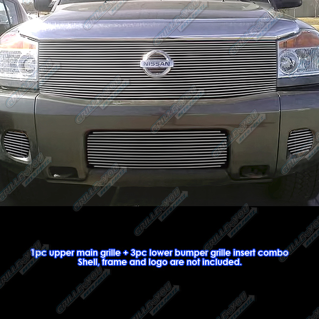 APS Fits 2004-2007 Nissan Armada Billet Grille Grill Inse...