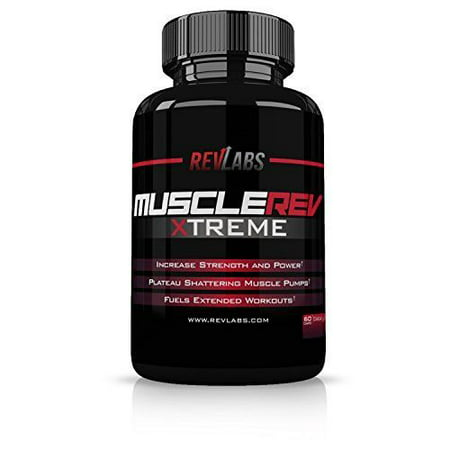 RevLabs MuscleRev Xtreme -Premium Nitric Oxide Supplement -Build Muscle and Strength while Boosting Blood Flow, Stamina and Endurance-Stimulant Free Pre-Workout Amplifier-30 Servings