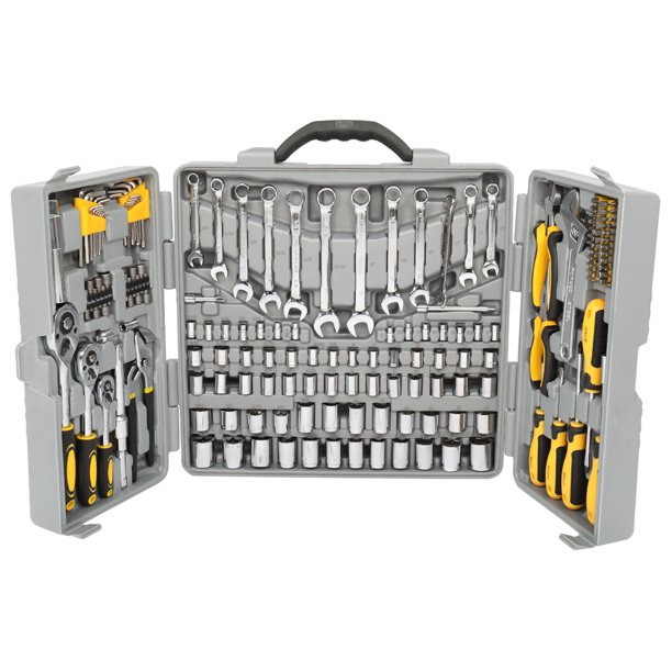 Tool Set 205 Pcs Red, Ratchet Wrench with Sockets Kit Set in...