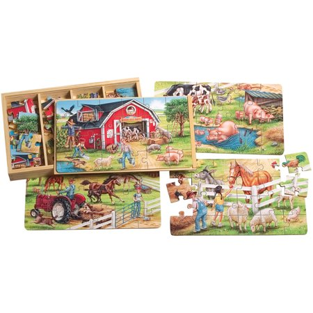 Large Puzzle (T.S. Shure Farm Large Puzzles in a Wooden Box, 4)