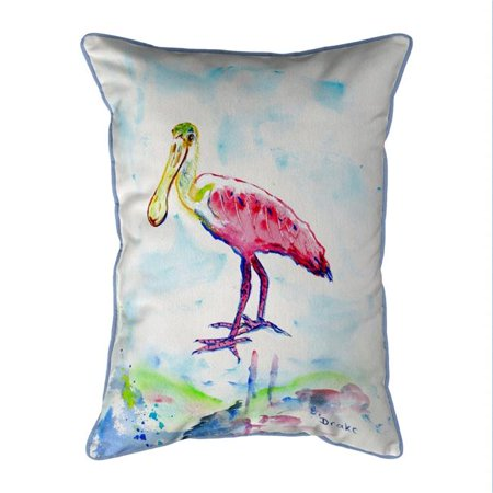Betsy Drake SN530 11 x 14 in. Betsys Pink Spoonbill Small Indoor & Outdoor Pillow - image 1 of 1