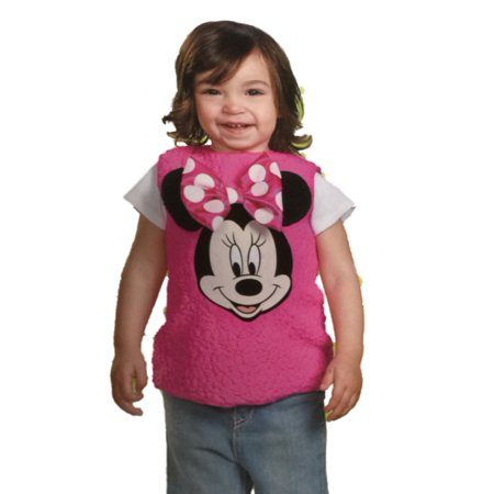 18 And Over Halloween Parties (Disney Infant Toddler Girl Plush Pink Minnie Mouse Costume Pull-over)