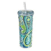 Cypress Home Kaleidoscope Paisley Textured Acrylic Tumbler, 16 ounces