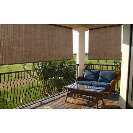 Radiance 0370966 Exterior Solar Shade 72 Inch Wide By 72 Inch High Espresso Stripe Home Garden