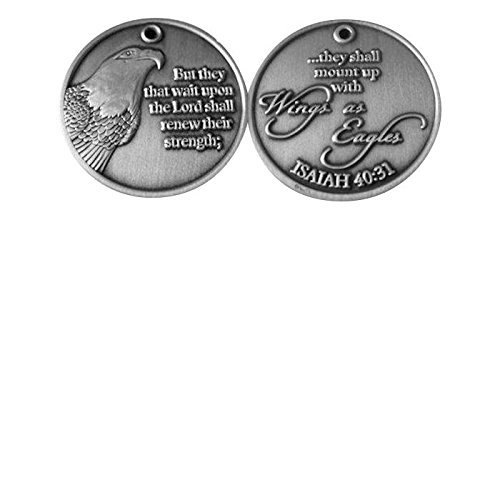 Wings As Eagles Inspirational Pocket Coin / Token (Pkg of 3)
