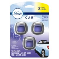 Febreze One Car Odor-Eliminating Air Freshener, Midnight Storm, 3 ct
