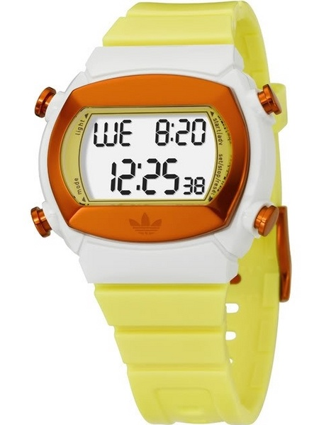 Adidas ADH6049 Candy Yellow Rubber Bracelet with 44mm Digital Watch New In Box by Adidas