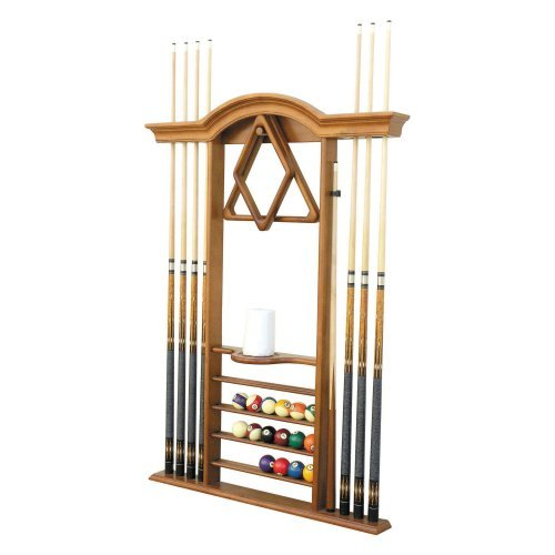 Level Best Deluxe Wall Pool Cue Rack