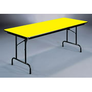 High Pressure Folding Table in Yellow (24 in. x 72 in./Yellow)