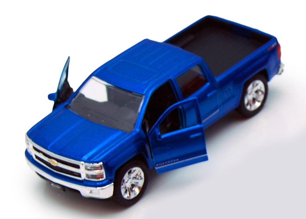 Chevy Silverado Pickup Truck, Blue Jada Toys Just Trucks 97017 1 32 scale Diecast Model... by Jada