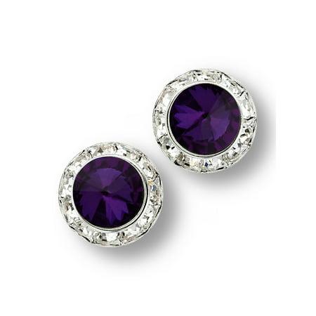 Glamour Dess Jewelry Er134 15pl Pierced Rhinestone Earrings Dance 15mm