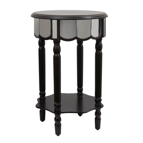 Decor Therapy Mirrored Round Side Table