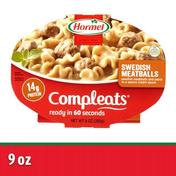 Hormel Compleats Swedish Meatballs 9 Ounce Walmart Com Walmart Com