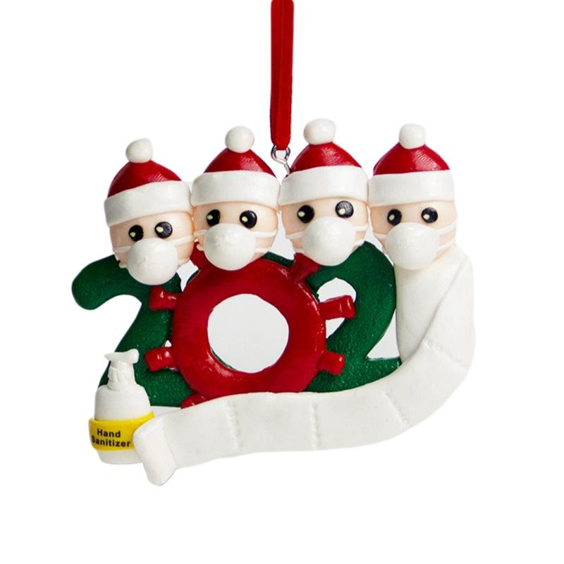 RetroFun Survived Family Ornament Xmas Tree Ornaments,2020 Christmas Holiday Decorations,Quarantined at Home Family Of Personalized Tree Christmas Hanging Pendant Ornament